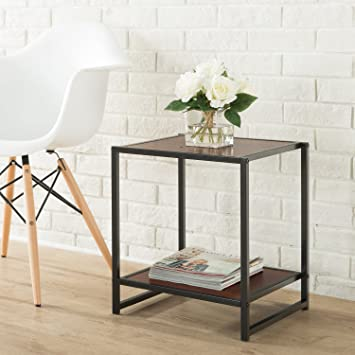 Marvelous Zinus Priyanka Modern Studio Collection 15 Inch Square Side Table End Table Coffee Table Dailytribune Chair Design For Home Dailytribuneorg