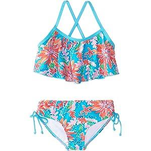 6967c2cb920ba Amazon.com: Kanu Surf Toddler Girls' Morgan Ruffle Halter Bikini 2 ...