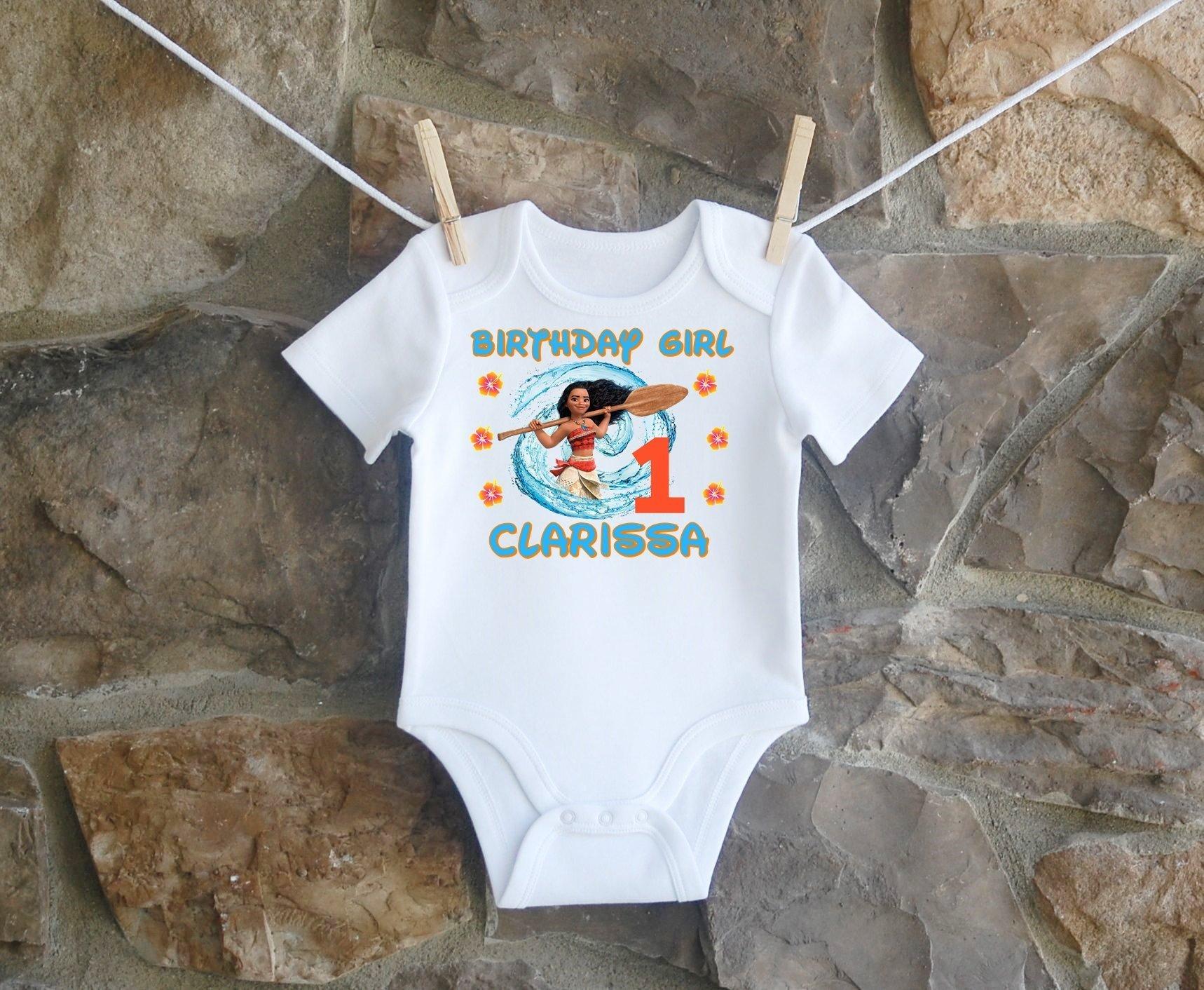 Moana Birthday Shirt,Moana Birthday Shirt For Girls, Personalized Girls Moana Birthday Shirt, Customized Moana Birthday Shirt