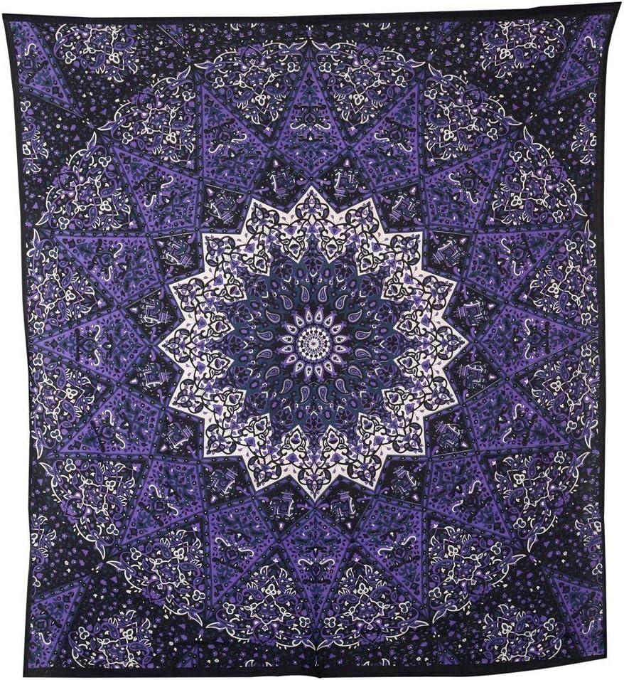 GLOBUS CHOICE INC. Purple Star Hippie Tapestry Hippy Mandala Bohemian Tapestries Indian Dorm Decor Psychedelic Home Decorative