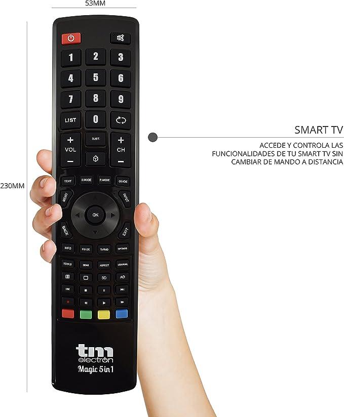 TM Electron TMURC501 - Mando a distancia universal Magic 5 en 1 ...