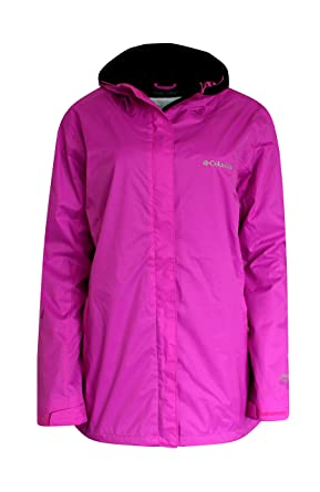 COLUMBIA women's plus MARYS PEAK II hooded RAIN JACKET furshia (1X ...