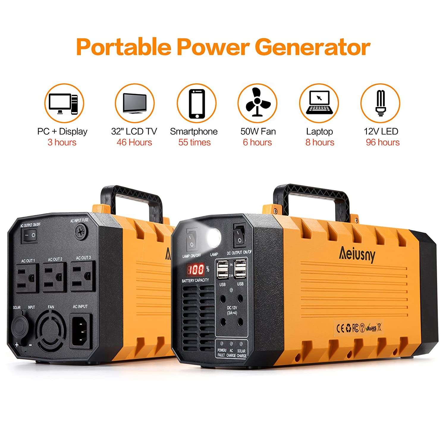 UPS Battery 500W Portable Generator Uninterrupted Power