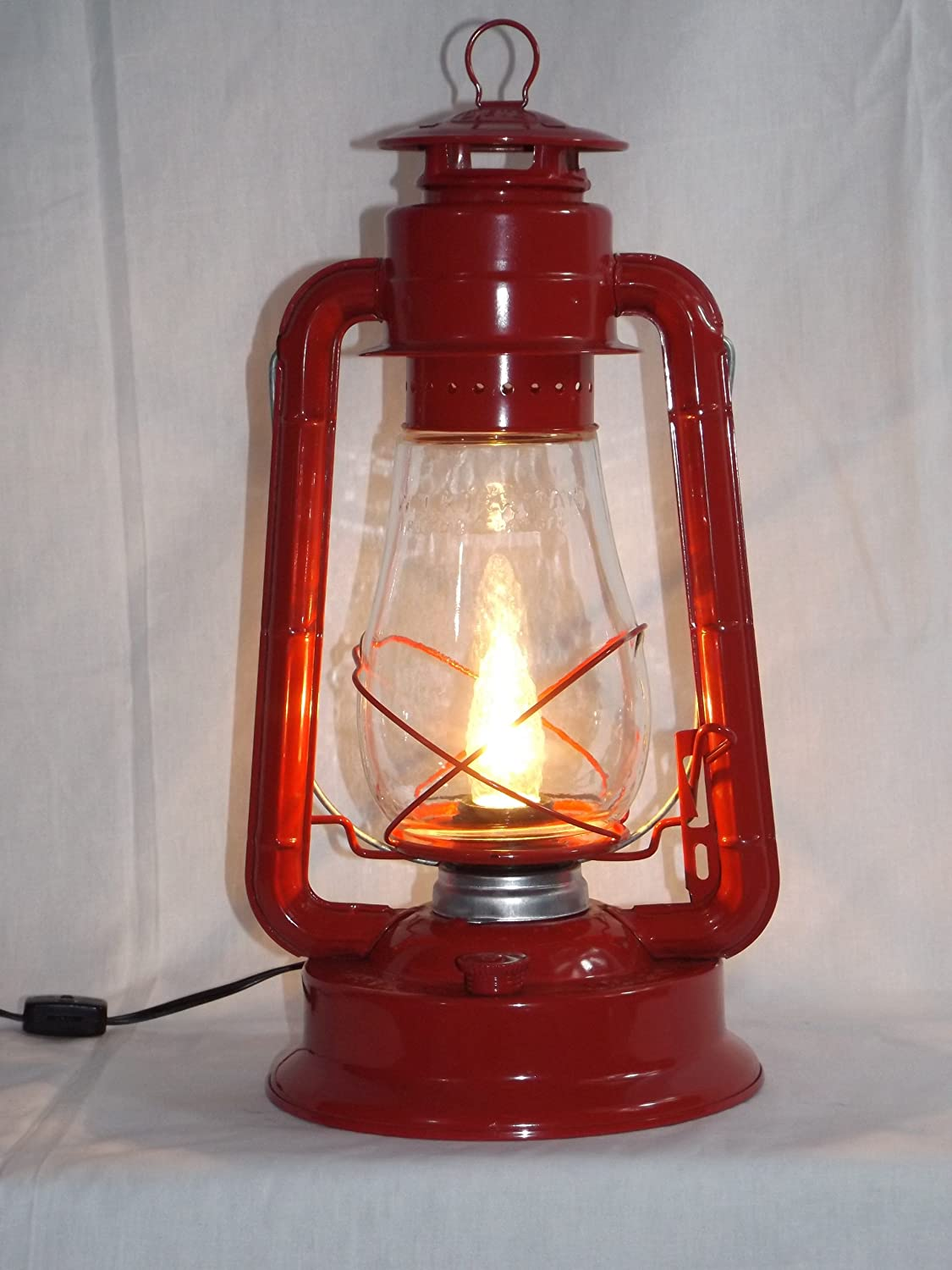 Dietz blizzard vintage style electric lantern table lamp red dietz blizzard vintage style electric lantern table lamp red amazon aloadofball Image collections