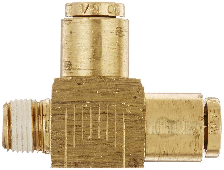 1//4 NPT Male x Tube OD Eaton Weatherhead 1871X4X4 Brass CA360 D.O.T Run Tee Air Brake Tube Fitting
