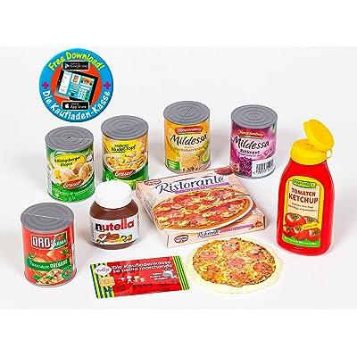 """'compra Juego de accesorios para cargar """"Polly Pizza, Nuez de ketchup Heinz, latas, Nutella crema: Juguetes y juegos"""
