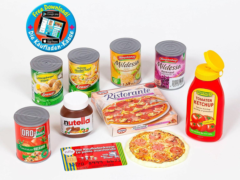 ketchup Ensemble daccessoires de marchande Polly Pizza bo/îtes cr/ème de noix de Nutella