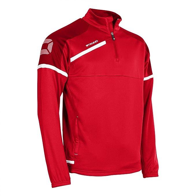 Fußball Stanno Top Half Zip Prestige Herren schwarz anthrazit Ziptop Sweatshirt NEU Bekleidung