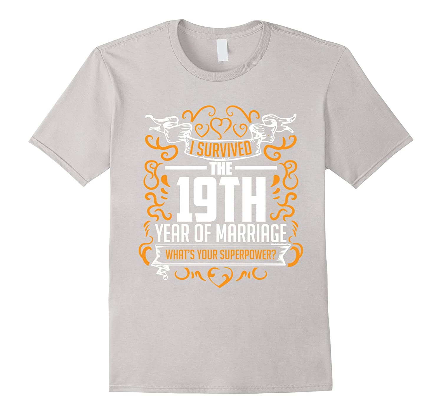 19th Wedding Anniversary Gifts 19 Year T Shirt For Her  Him-RT