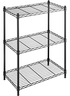 Whitmor Adjule 3 Tier Shelving With Leveling Feet Black