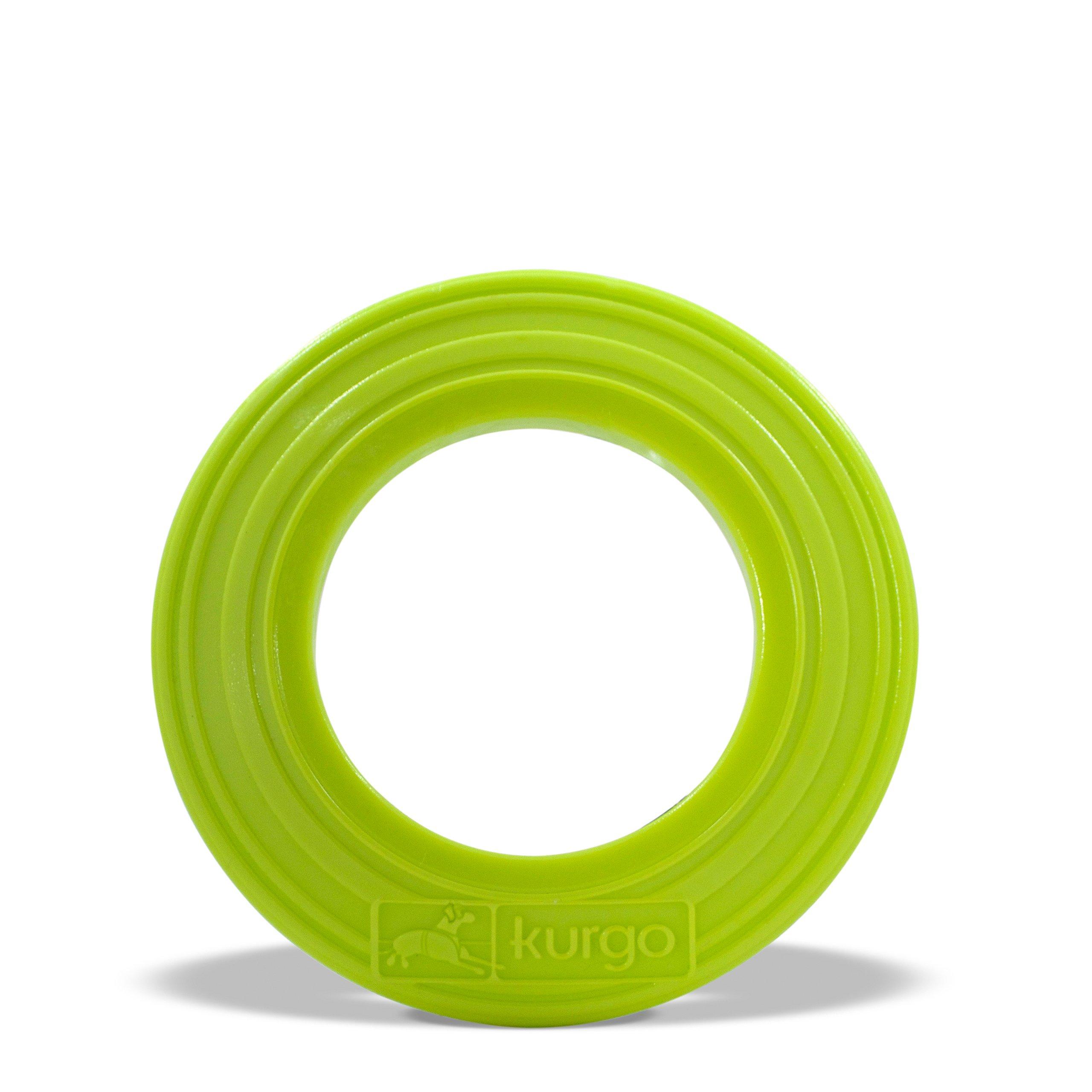 Kurgo Dog Tossing Disc(TM) for Dogs, Courtside Green, Regular