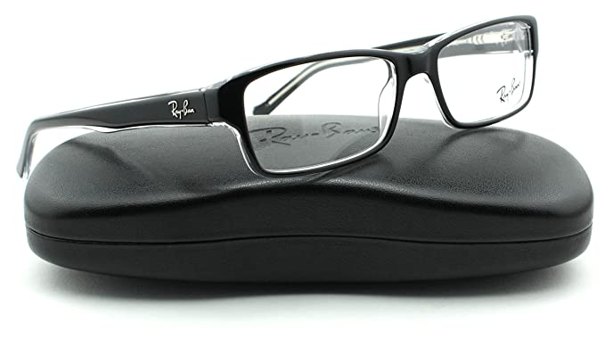 1f3866683d01f Ray-Ban RX5169 Square Unisex Eyeglasses (Black w Transparent 2034