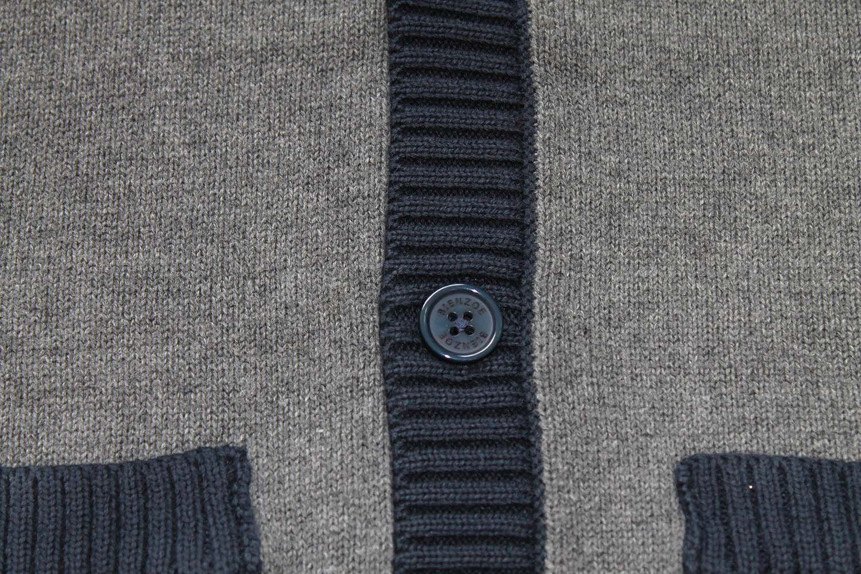 Bienzoe Big Boy's School Uniforms Cotton Antistatic V-neck Cardigan Sweater 14 by Bienzoe (Image #3)