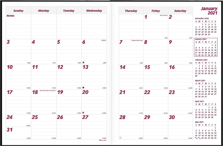 11 x 8.5 inches Brownline 2021 EcoLogix Monthly Planner Black 14 Months CB435W.BLK-21 Dec 2020 - Jan 2022