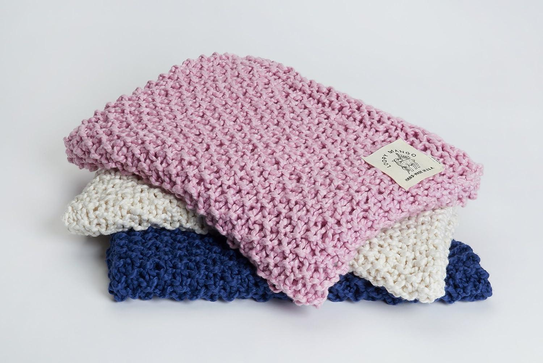 Cotton Baby Blanket-Apricot Loopy Mango DIY Kit