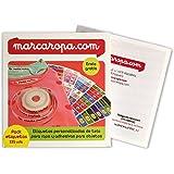Pack 155 etiquetas para marcar ropa. 100 Etiquetas de tela para marcar ropa + 55 etiquetas adhesivas para marcar objetos/Etiquetas para ropa/etiquetas colegio