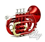 Sky Band Approved Wine Red Lacquer Brass Bb Pocket