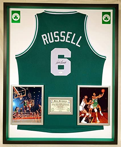 big sale f774d eb7e9 Premium Framed Bill Russell Autographed Signed Boston ...