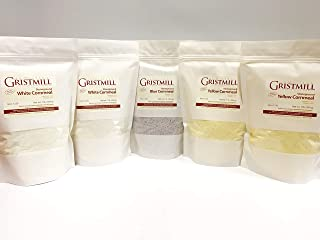 product image for Homestead Gristmill — Non-GMO, Chemical-Free, All-Natural, Stone-ground Cornmeal Variety 5-Pack (2 WCm, 2 YCm, 1 BCm)