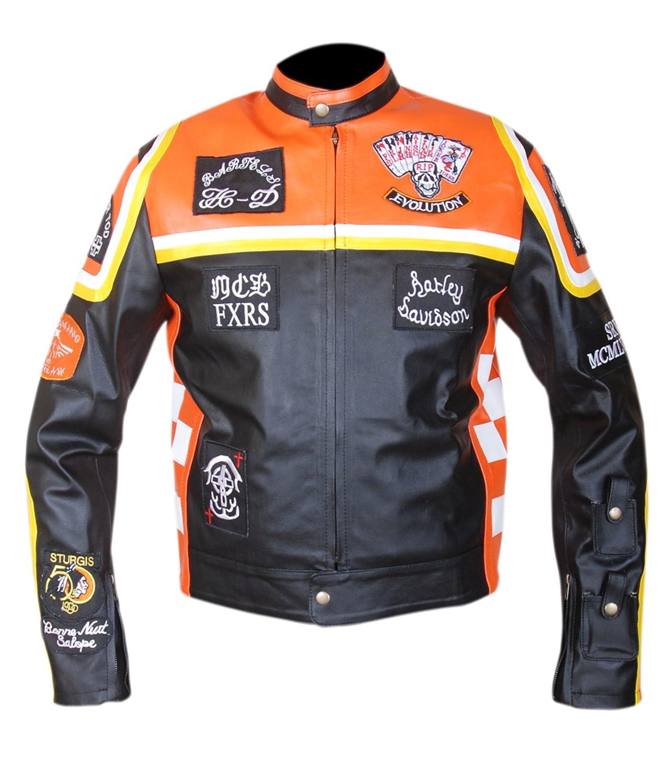 Mickey Rourke Don Johnson Fashion Biker Leather Jacket