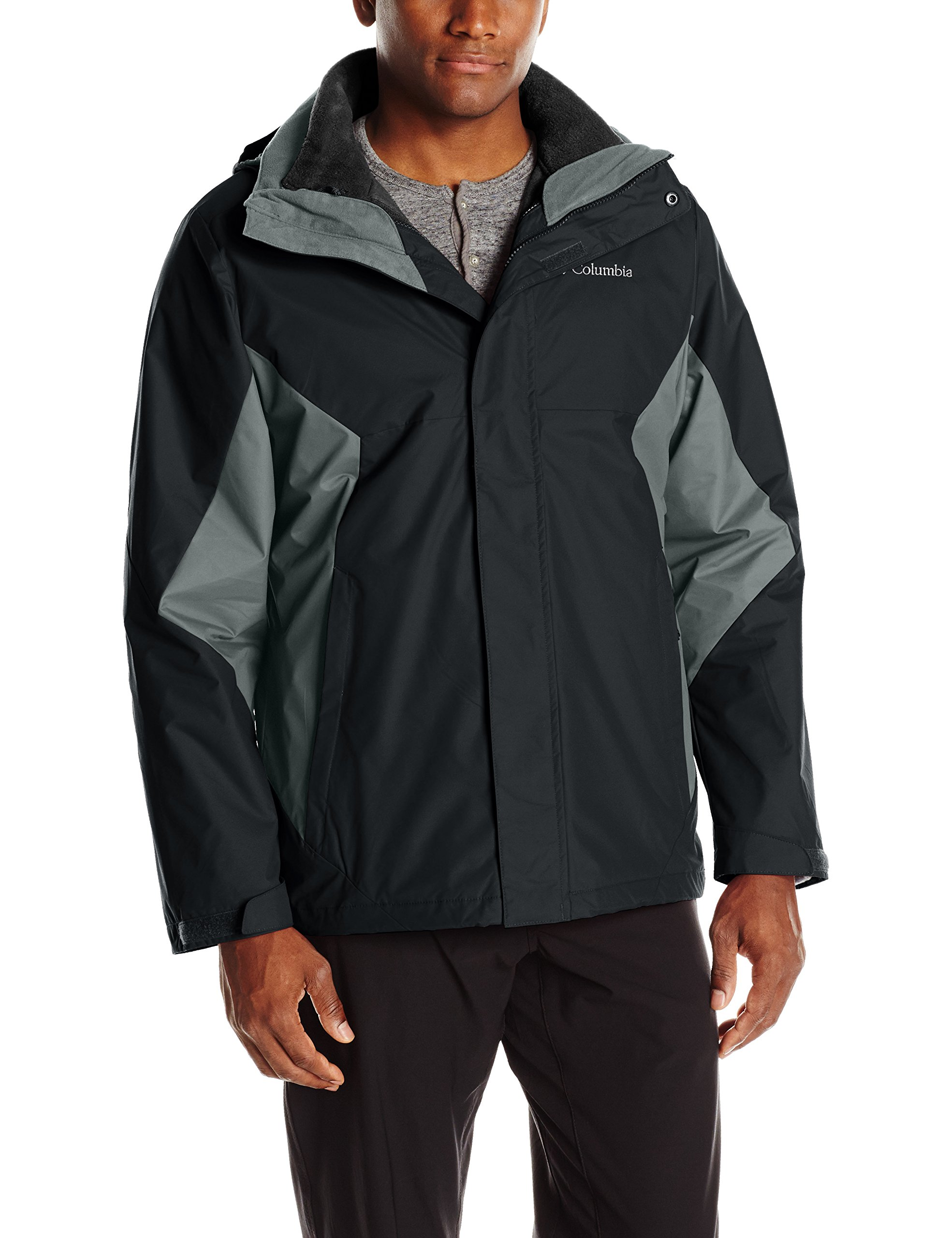 Columbia Men's Eager Air Interchange Jacket, Black/Graphite, Small by Columbia