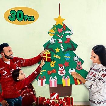 Balhvit 3D DIY Felt Christmas Tree for Toddlers