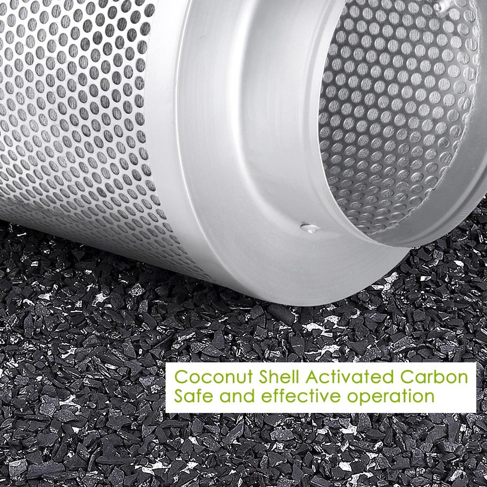 ReaseJoy 4 100mm In-Line Hydroponic Fan Air Carbon Filter 150CFM compatible with Grow Tent Room Ventilation Exhaust