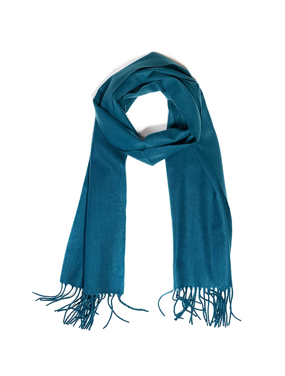 Teal INVERNO Super Soft Luxurious Cashmere Feel Warm Winter Solid Plain color Unisex Scarf