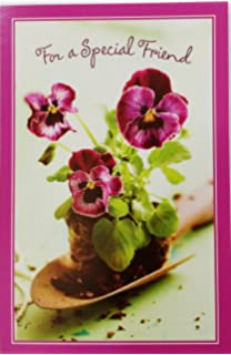 Amazon aunt is one of the hearts most beautiful names for for a special friend happy birthday greeting card w pansies thank you m4hsunfo