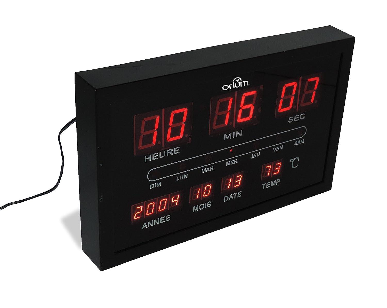 Orium - Reloj de pared digital con iluminación LED (cable de 1,8 m): Amazon.es: Oficina y papelería