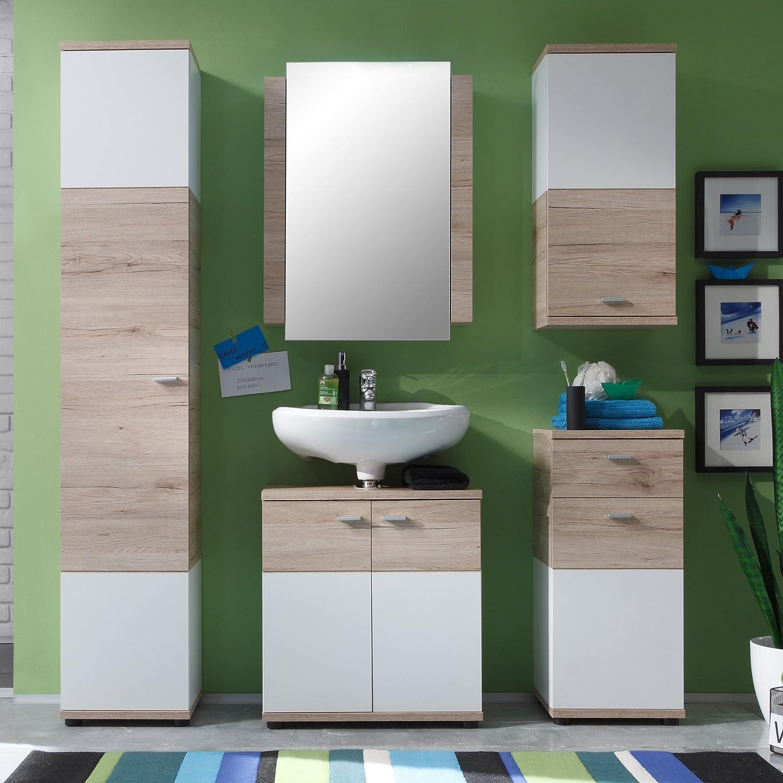 Bianco trendteam smart living Mobili 60 x 80 x 15 cm