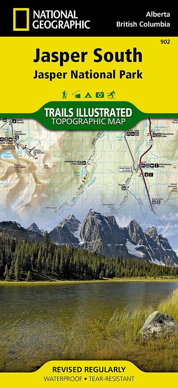 Jasper South(Jasper National Park) Trail Map 1:100,000
