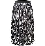 Women's Summer Elastic High Waisted Chiffon A-Line Pleated Midi Swing Skirts