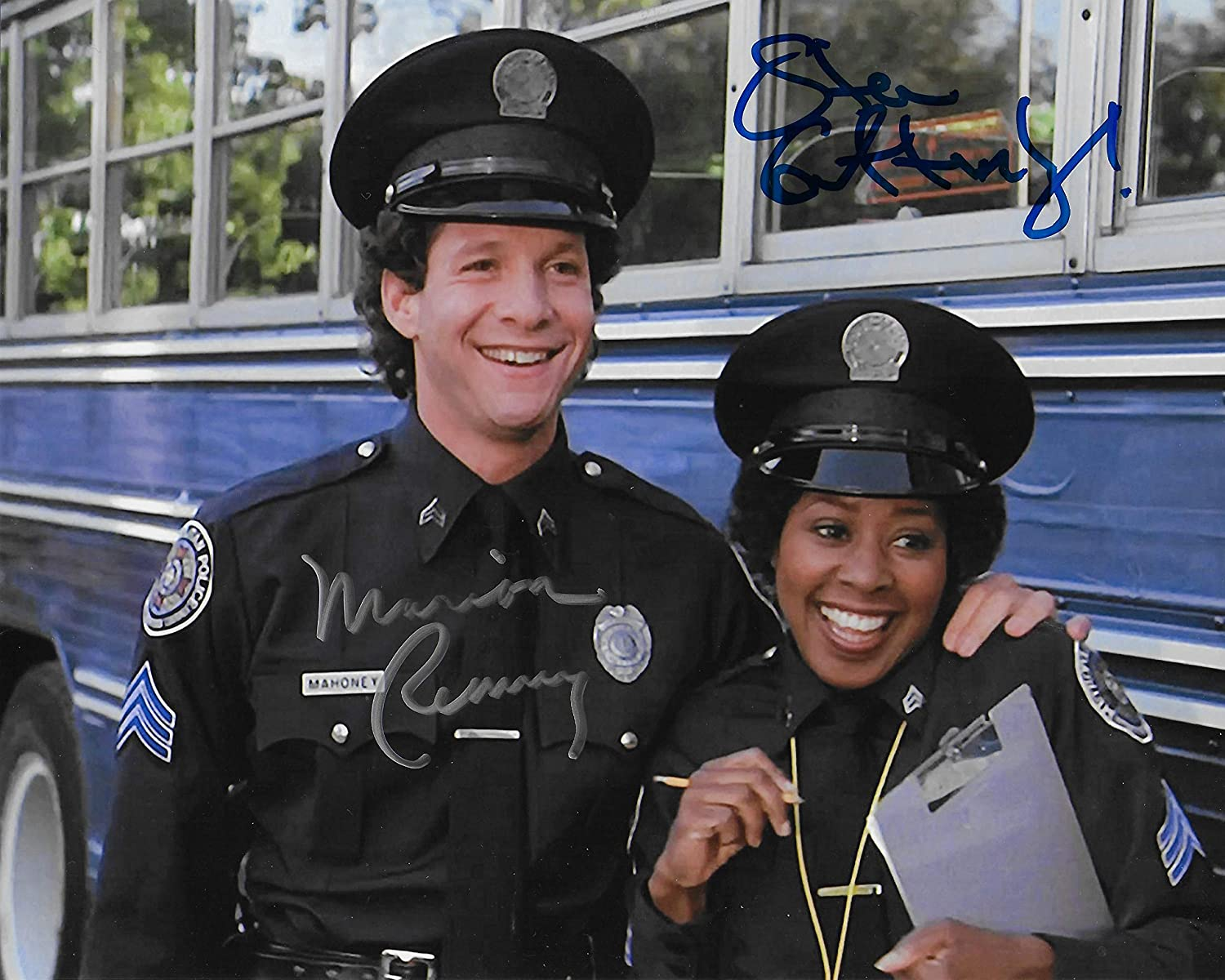 Steve Guttenberg Marion Ramsey Police Academy Original Autographed 8x10 Photo 2 At Amazon S Entertainment Collectibles Store