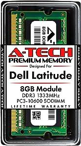 A-Tech 8GB RAM for Dell Latitude E6520, E6420, E6320, E6220, E5520, E5420 | DDR3 1333MHz SODIMM PC3-10600 Laptop Memory Upgrade Module