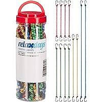 Relaxdays, Multicolor spanrubber set van 12, bagagespanner voor auto en fiets, universele expander, 35 cm tot 1 m, 4…