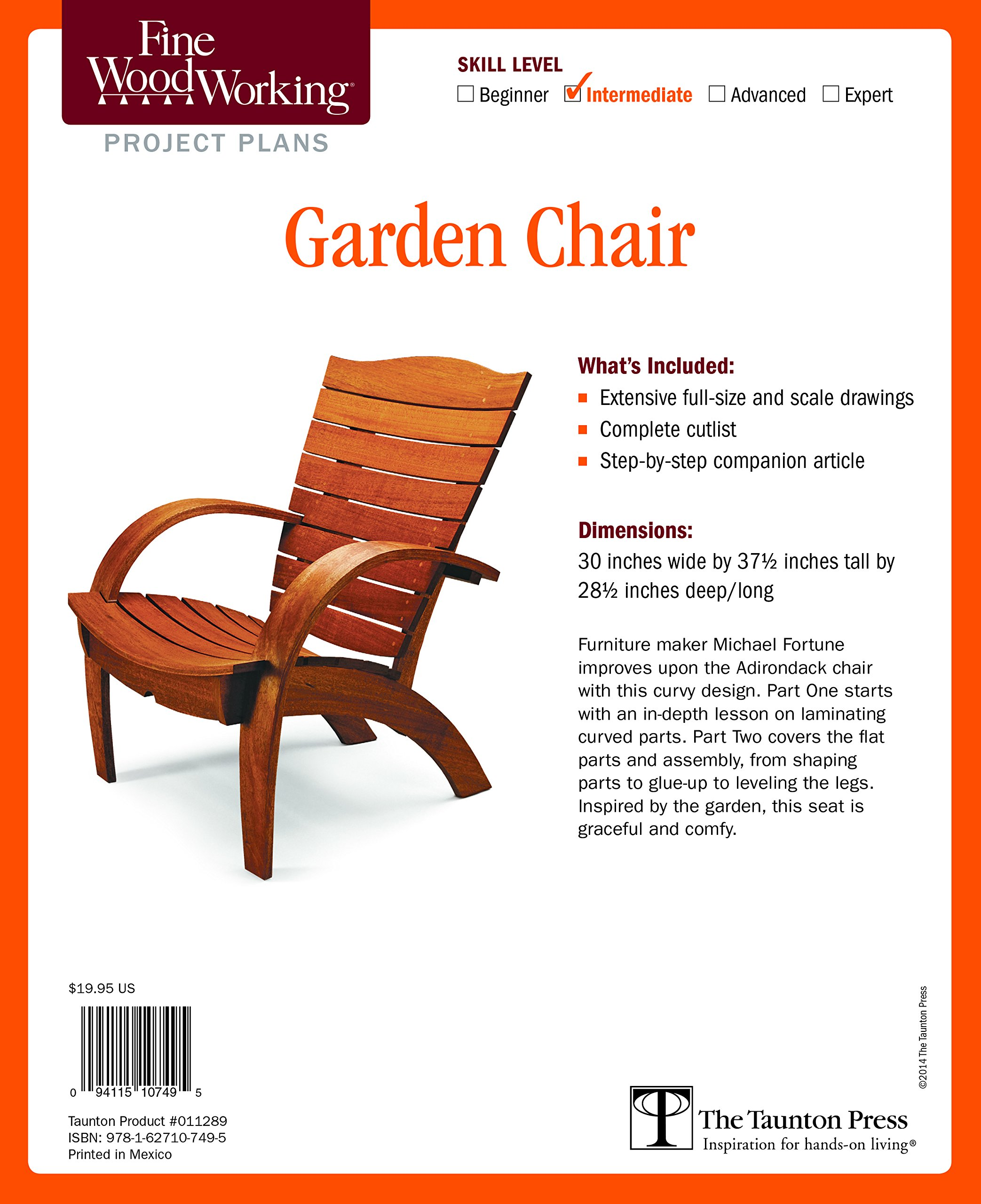Fine Woodworking's Garden Chair Plan