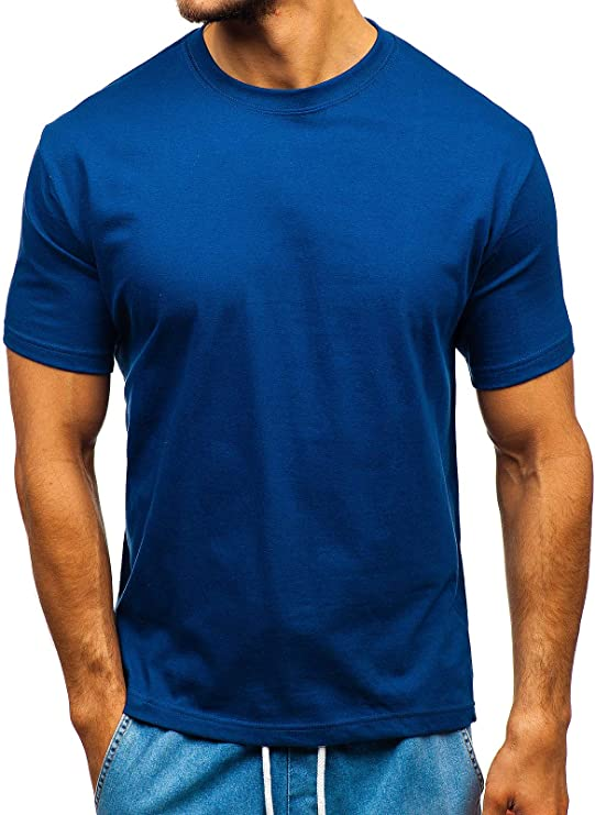 BOLF - Camiseta - para Hombre Dunkelblau_t1047 M: Amazon.es: Ropa y accesorios