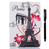 inShang iPad case for ipad 2 ipad 3 ipad 4 Color Painting Smart case cover stand+1pc High end class business stylus Pen