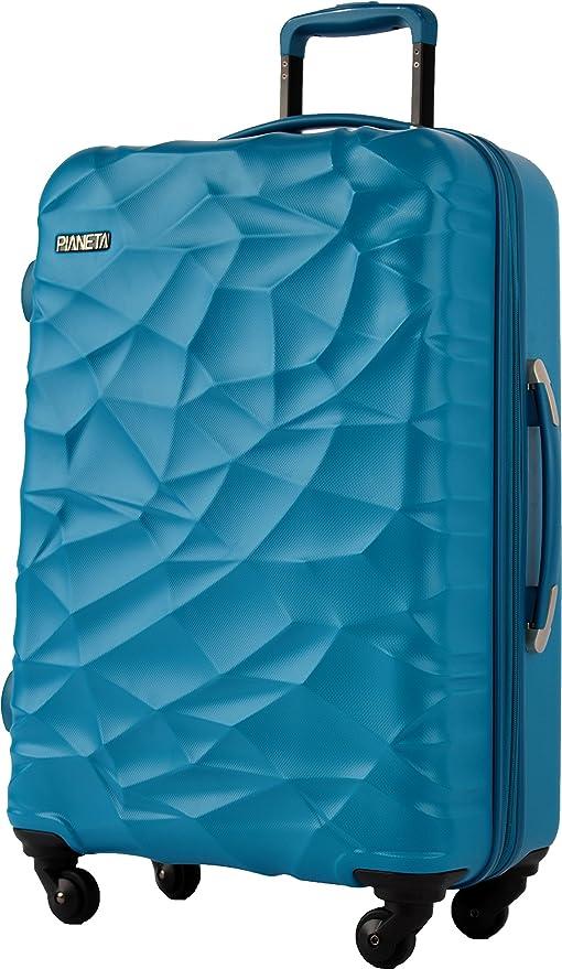 "6a68113fe Pianeta ""Islandia"" resistente policarbonato ABS mezcla rígida  maleta 4 ruedas en 3 colores"