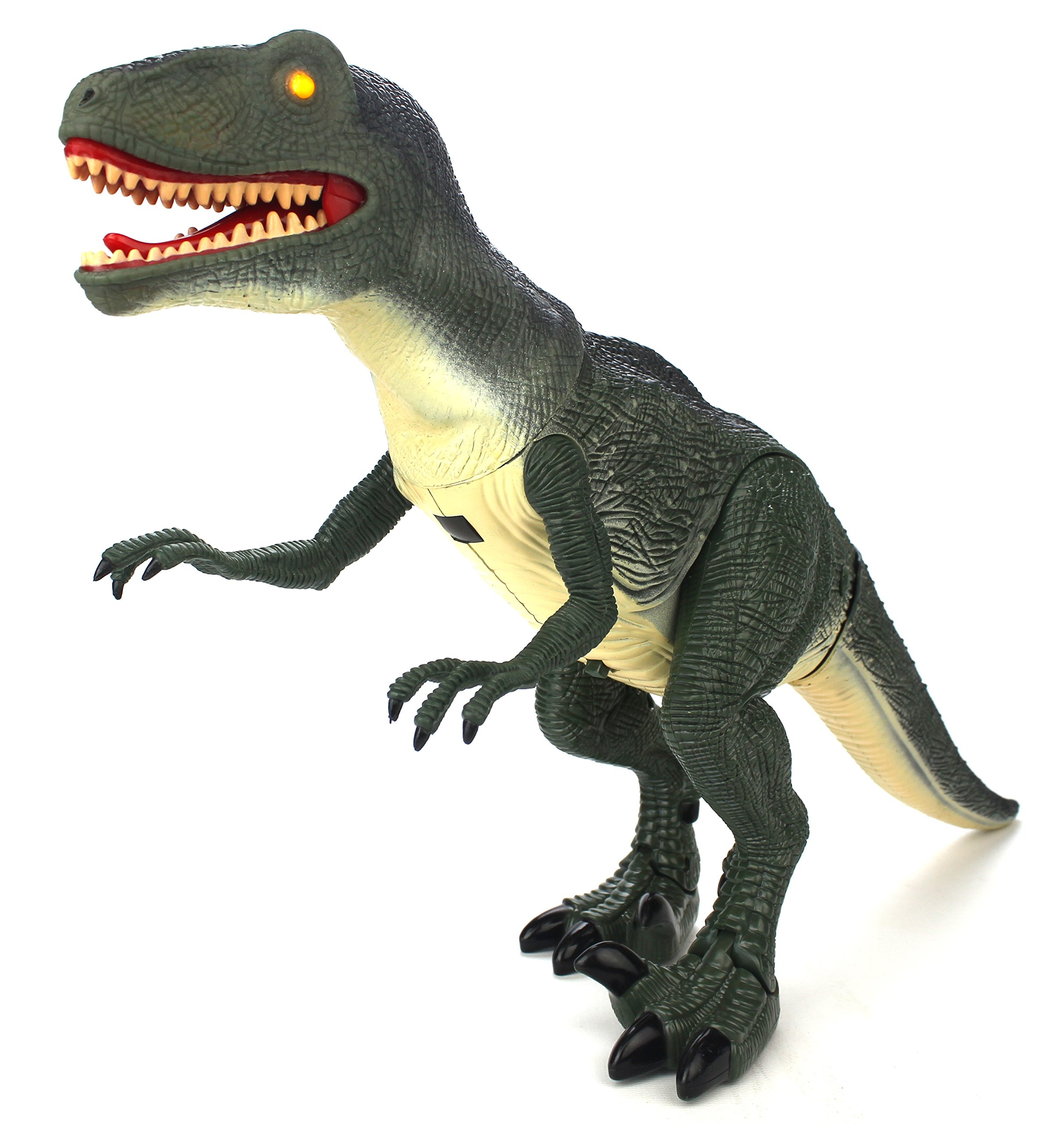 Dinosaur Planet Raptor Remote Controlled RC Battery Operated Toy Velociraptor Figure w/Shaking Head, Walking Movement, Light Up Eyes & Sounds by Velocity Toys (Image #2)