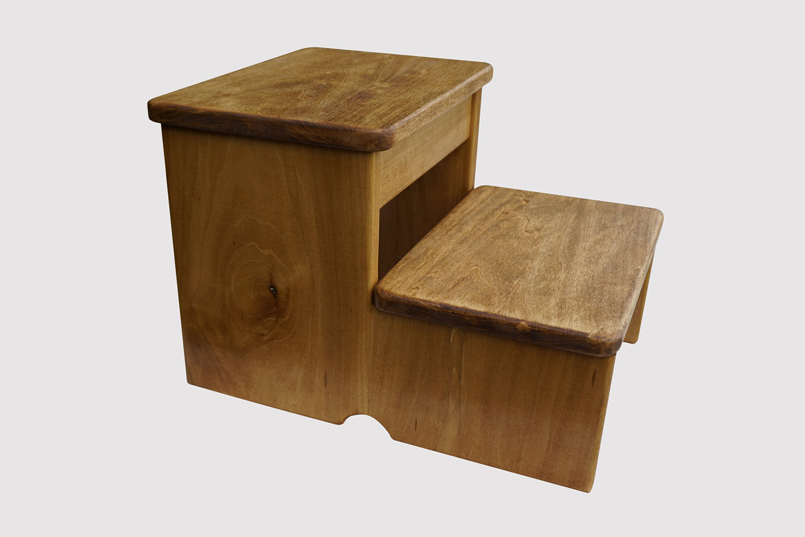 Standard 2-Step Stool (Made in the USA) (Maple Stain) by KR Ideas