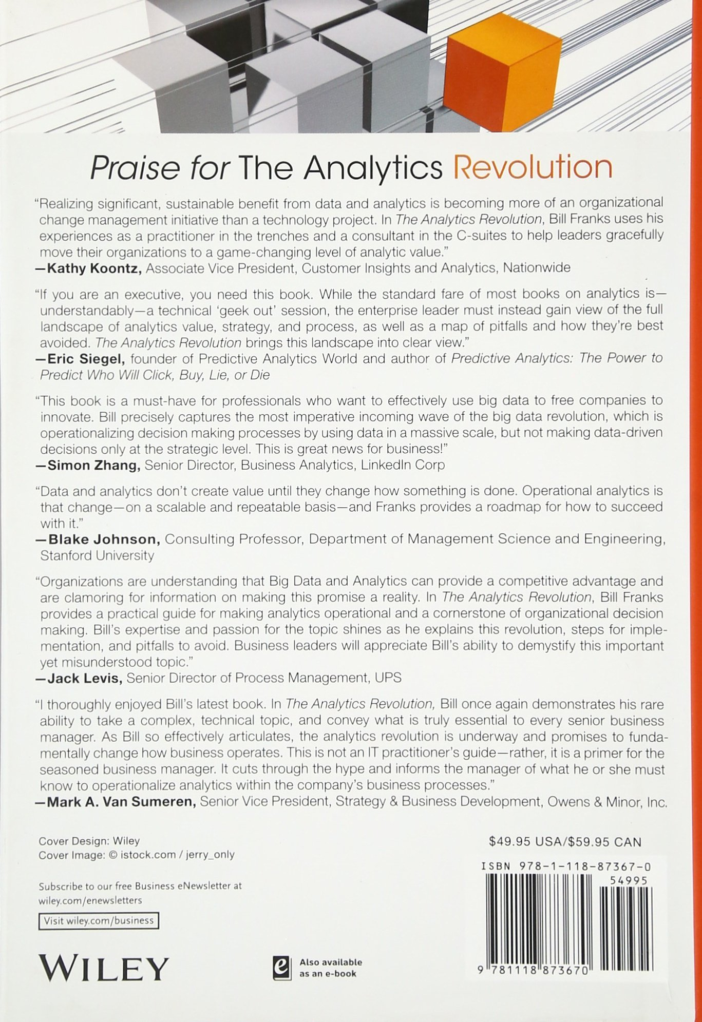 the analytics revolution how to improve your business by making the analytics revolution how to improve your business by making analytics operational in the big data era bill franks 9781118873670 com books