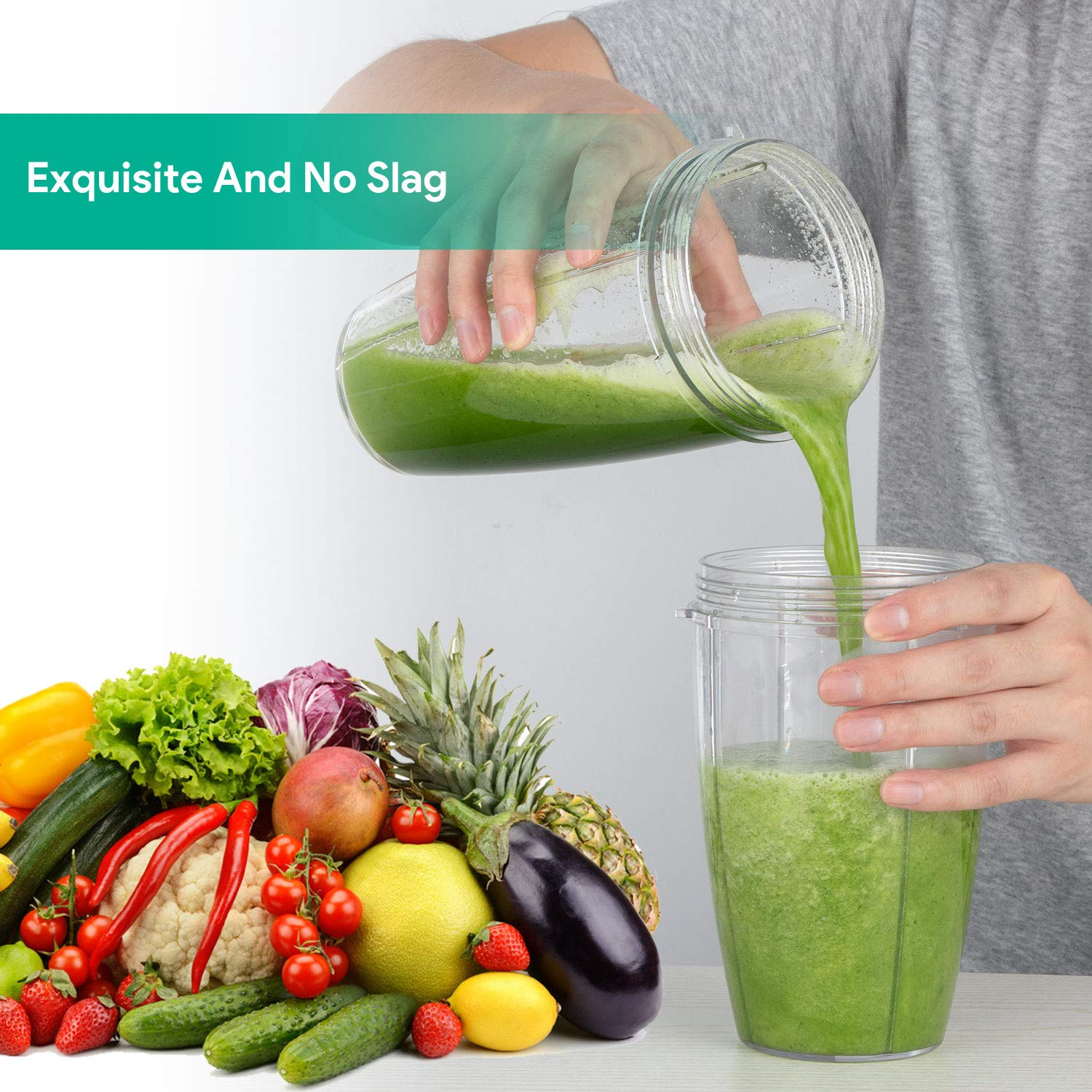Blender, Smoothie Blender, Personal Blender, Blender For Shakes And Smoothies, Stainless Steel Juicer Blender Electric, Professional-Grade Power,High-Speed Blender For Baby Food With 1000W, BPA Free,FDA, Recipes Including by Antehome (Image #6)
