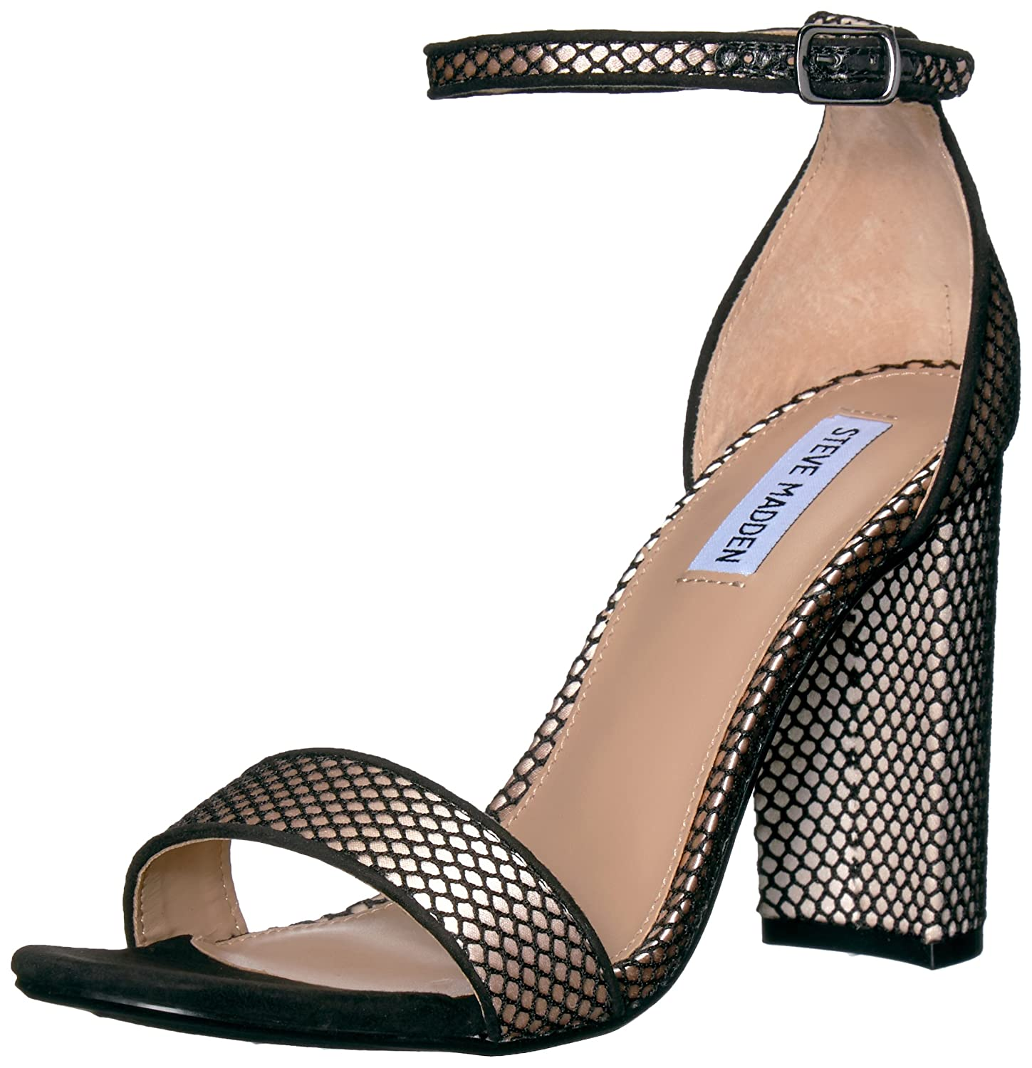 Steve Madden Women's B(M) Carrson Dress Sandal B073JR4QV1 7 B(M) Women's US|Black Mesh d68f97