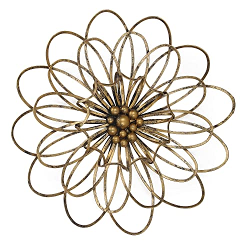 flower metal wall art decor. Black Bedroom Furniture Sets. Home Design Ideas