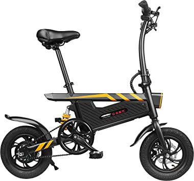 Olodui1 Bicicleta Eléctrica Plegable de Paseo 250W con Batería de ...