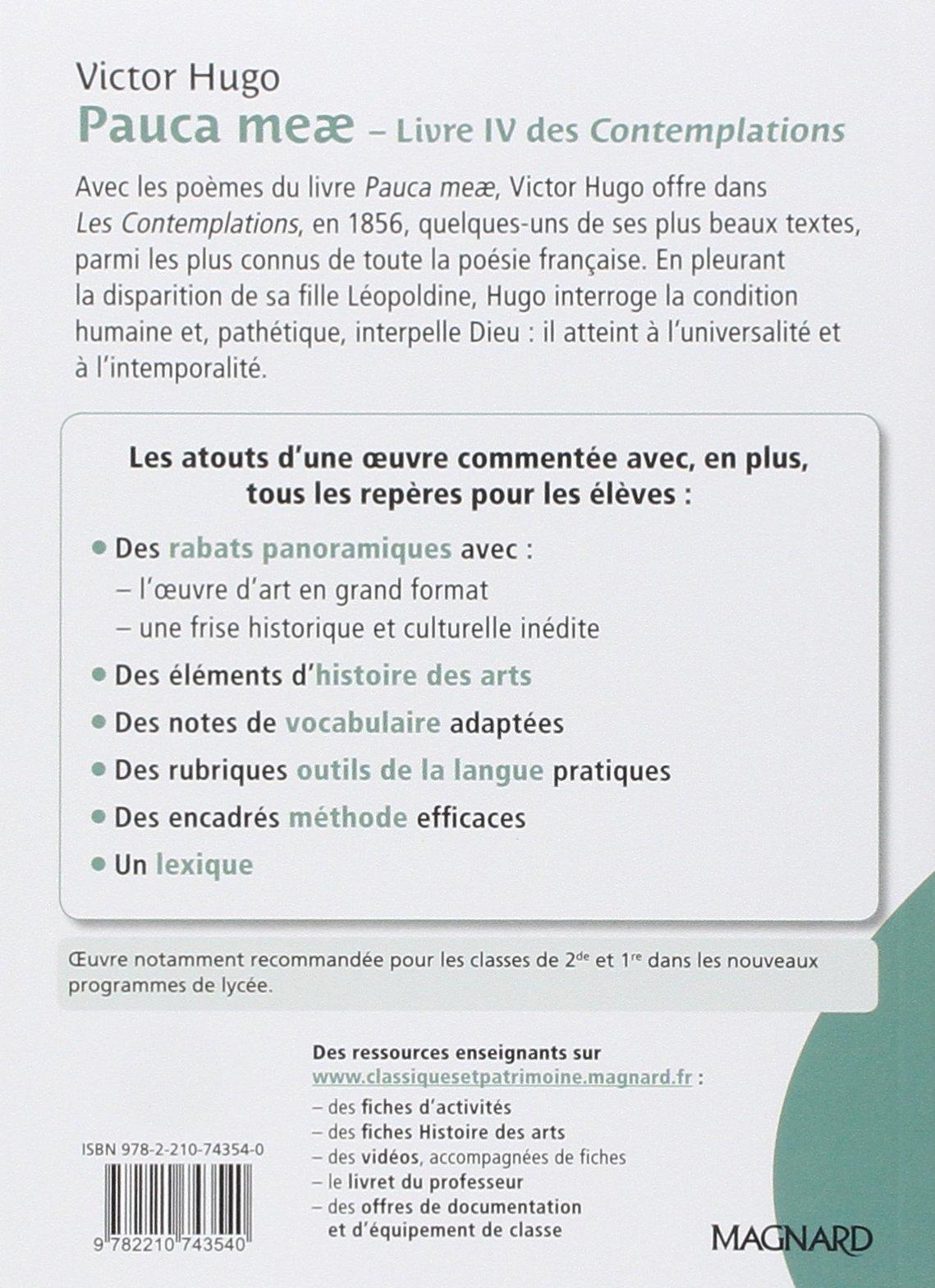 Pauca Meae Livre Iv Des Contemplations Thierry Poyet