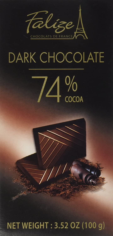 Amazon.com : Falize Dark Chocolate 74% Cocoa : Candy And Chocolate ...