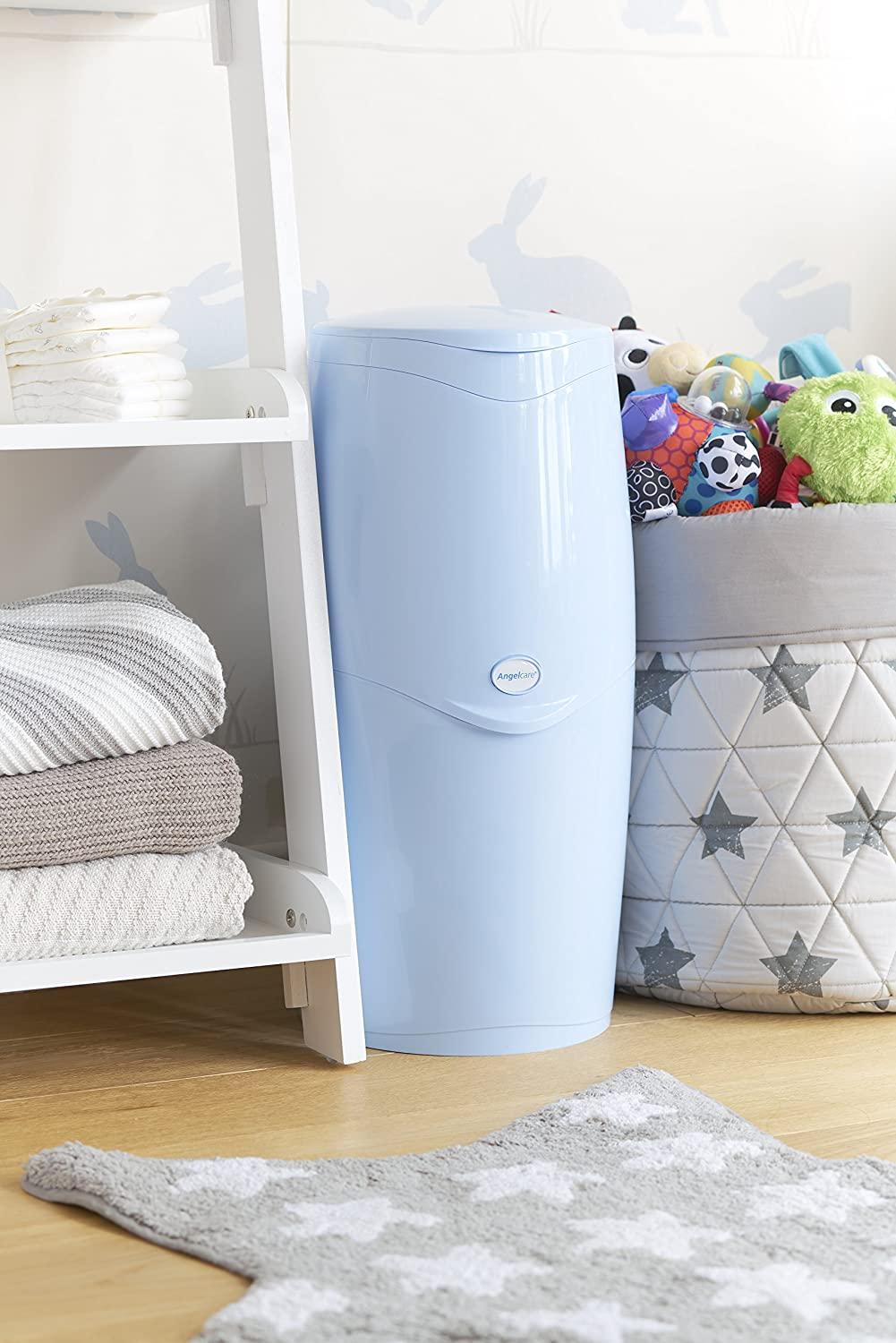 Angelcare Nappy Disposal Bin (Blue), Refills and On-The-Go Collection